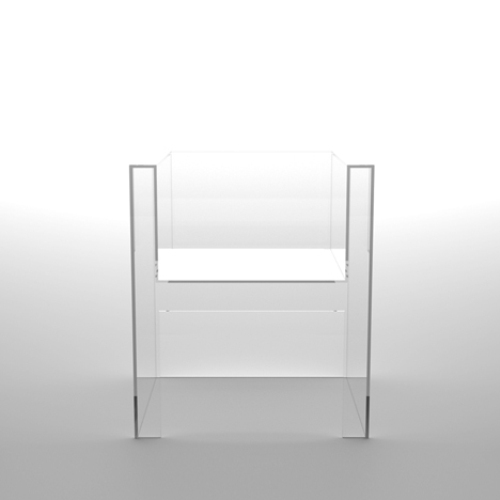 invisible acrylic chair by Tokujin Yoshioka
