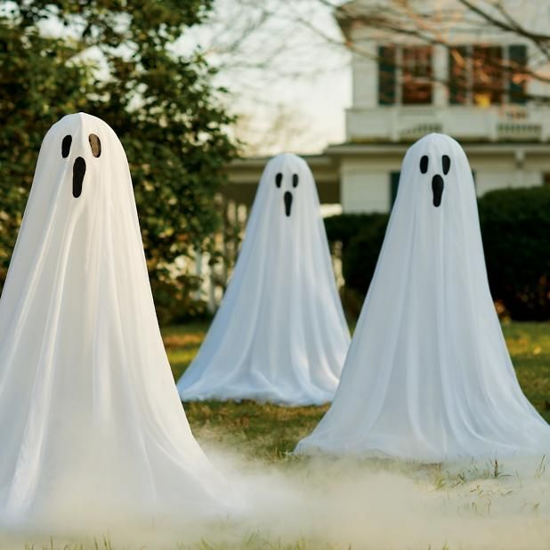 several spooky spirits wpuld look great together especially if you add small pulsing light sources insde each of them