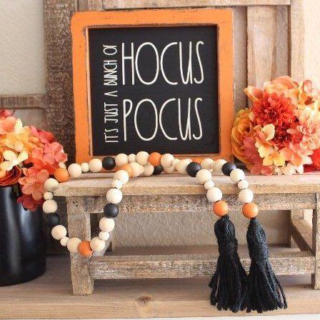 a hocus pocus sign is perfect for those who doesn't want anything too scary but want something cute
