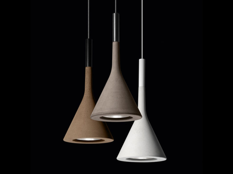 Aplomb is a cool pendant lamp made of concrete and now it's available in three fall inspired colors   green, burgundy and sandy yellow