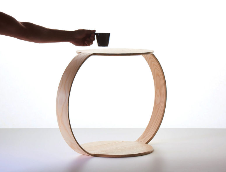 NeverEnding Table is a modern coffee table inspired by limitlessness and the ideal geometric shape   a circle