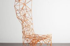 01 Pylon chair was originally created by Tom Dixon in 1991, and today it's manufactured by Capellini