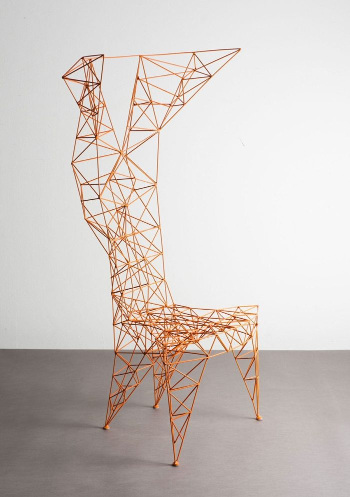 Pylon chair was originally created by Tom Dixon in 1991, and today it's manufactured by Capellini