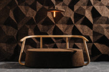 This gorgeous cork furniture collection made of cork and wood is a debut of DIGITALAB design duo who loves natural and sustainable designs