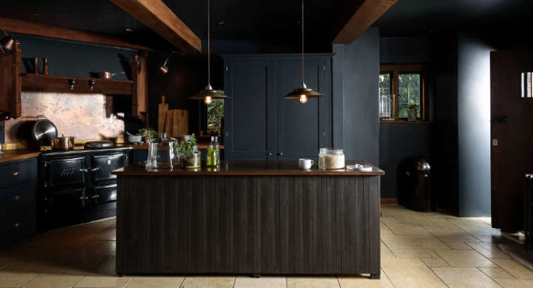Dark And Atmospheric Vintage Moody Kitchen By deVOL