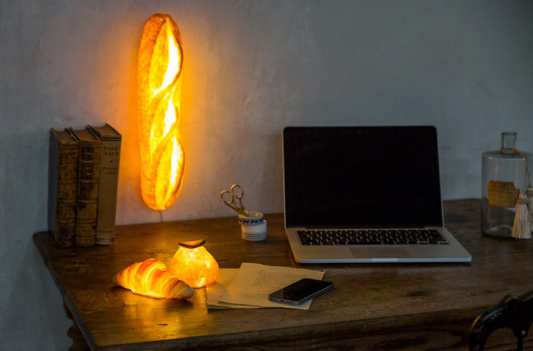 The batard is a wall lamp that looks like bread and can illuminate your space with its unusual shape
