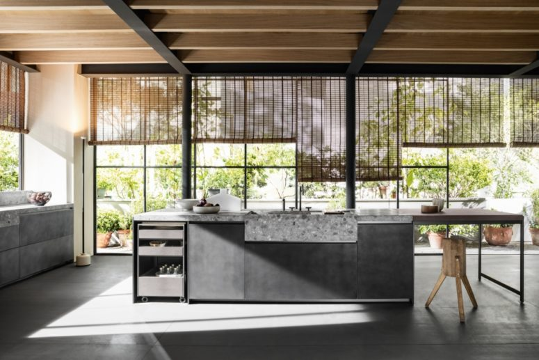 Such a kitchen will be a great fit for a modern, moody, masculine space with a restraint color palette