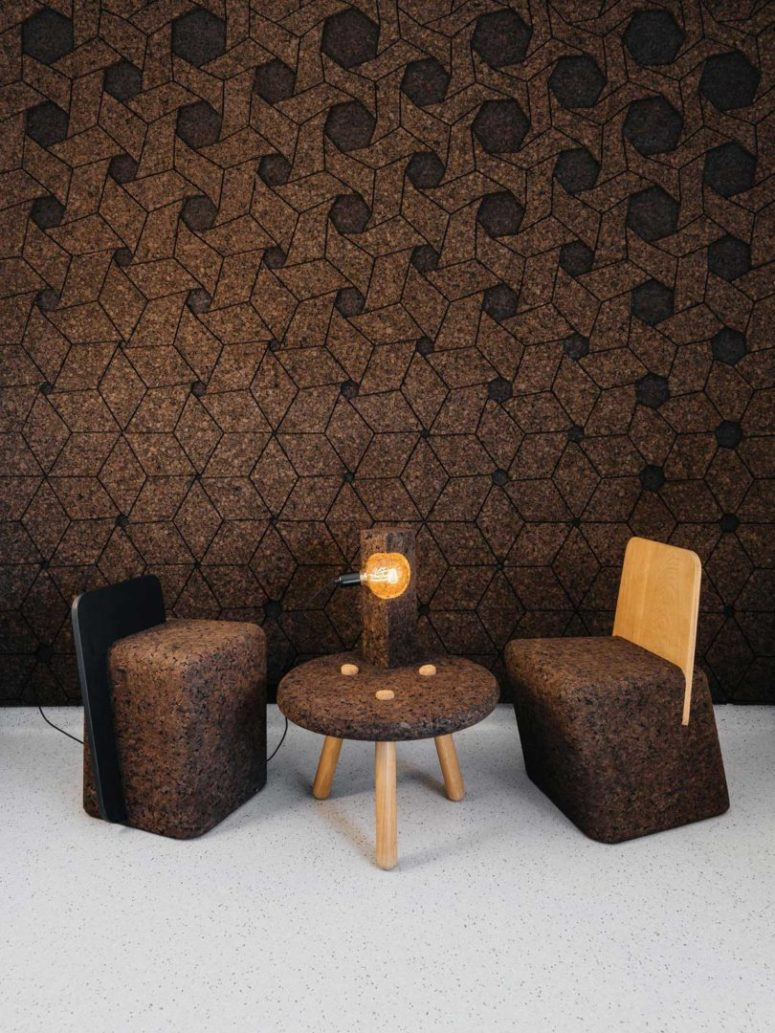 There are also interesting wall coverings to get inspired