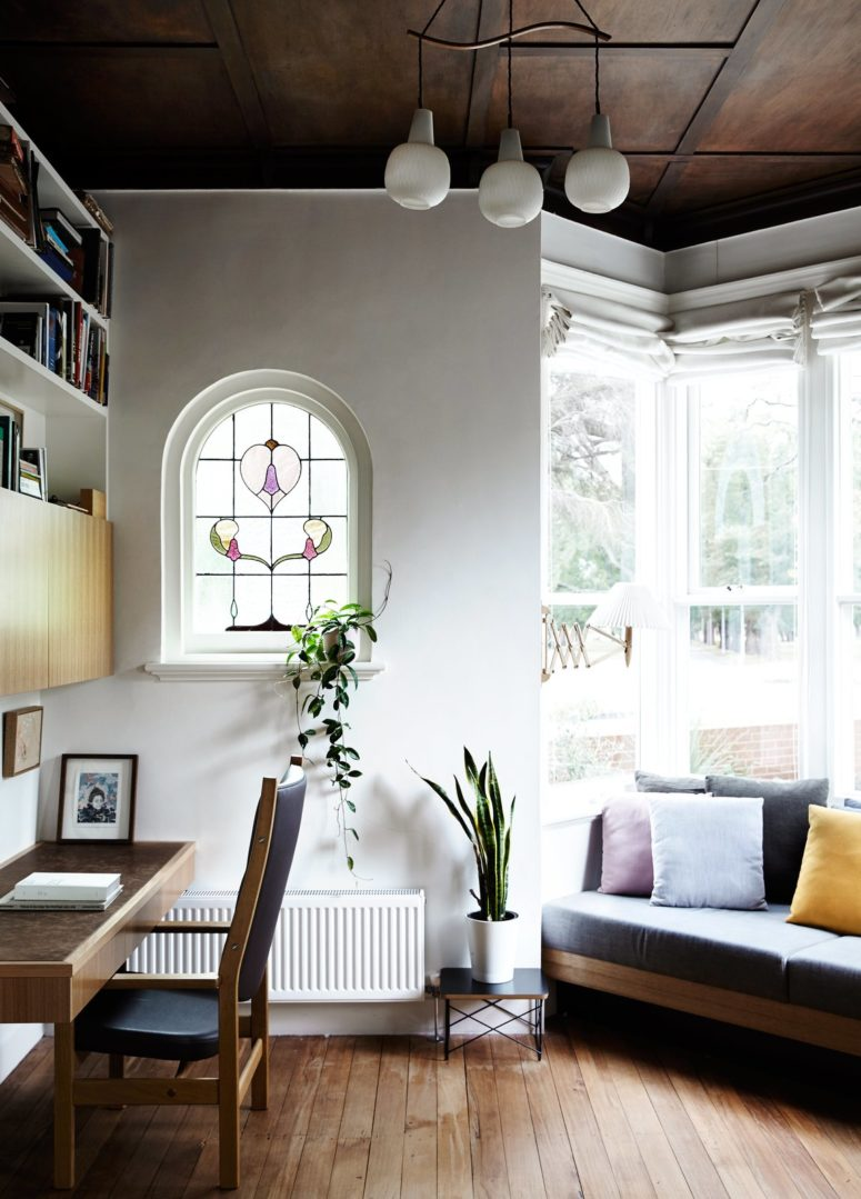 20th century edwardian home with a concrete extension. Black Bedroom Furniture Sets. Home Design Ideas