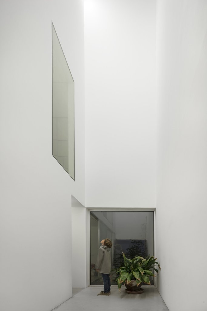 Series of windows and voids were added to fill the home with natural light