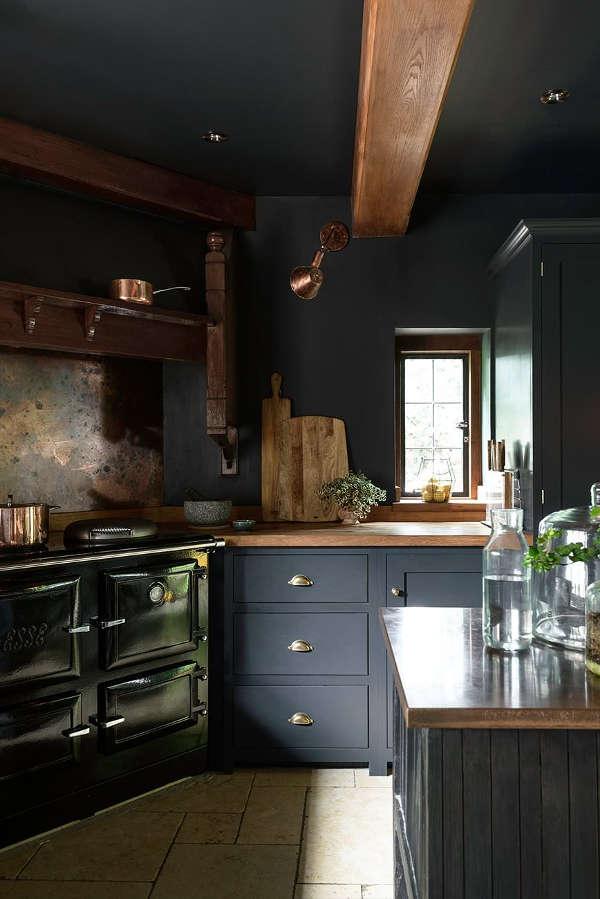 Dark And Atmospheric Vintage Moody Kitchen By Devol Digsdigs