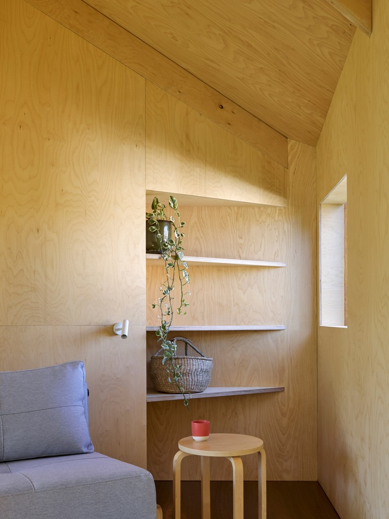 There's even a sitting nook here, where the owners can read and enjoy the calmness of the retreat