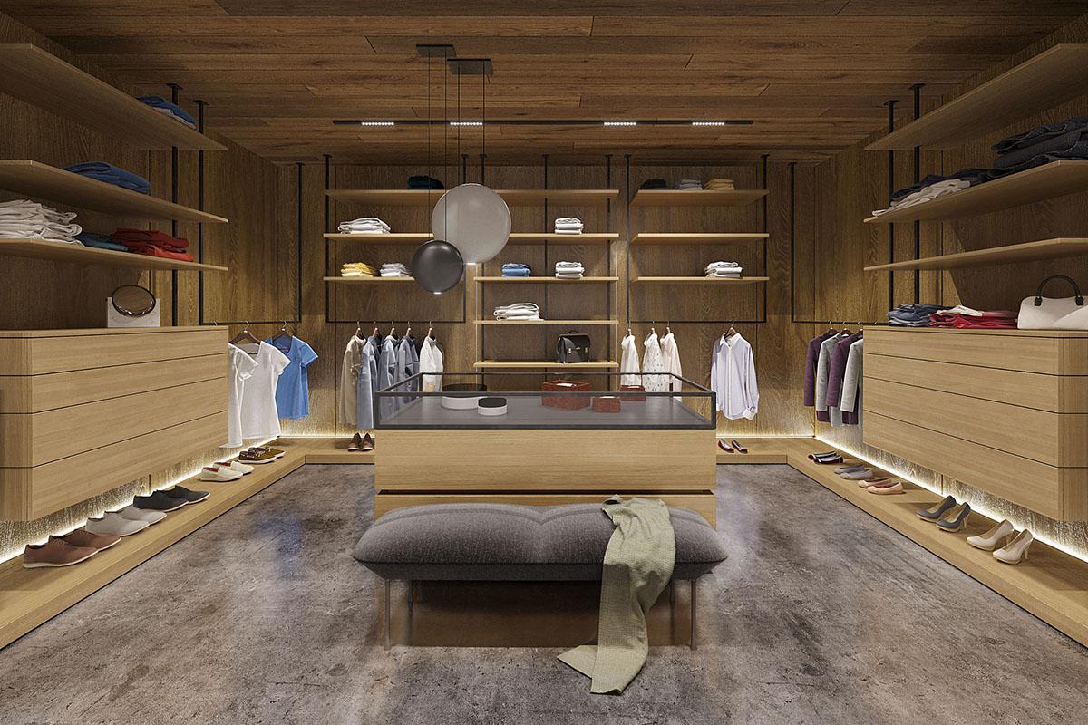 stylish walk in closet design