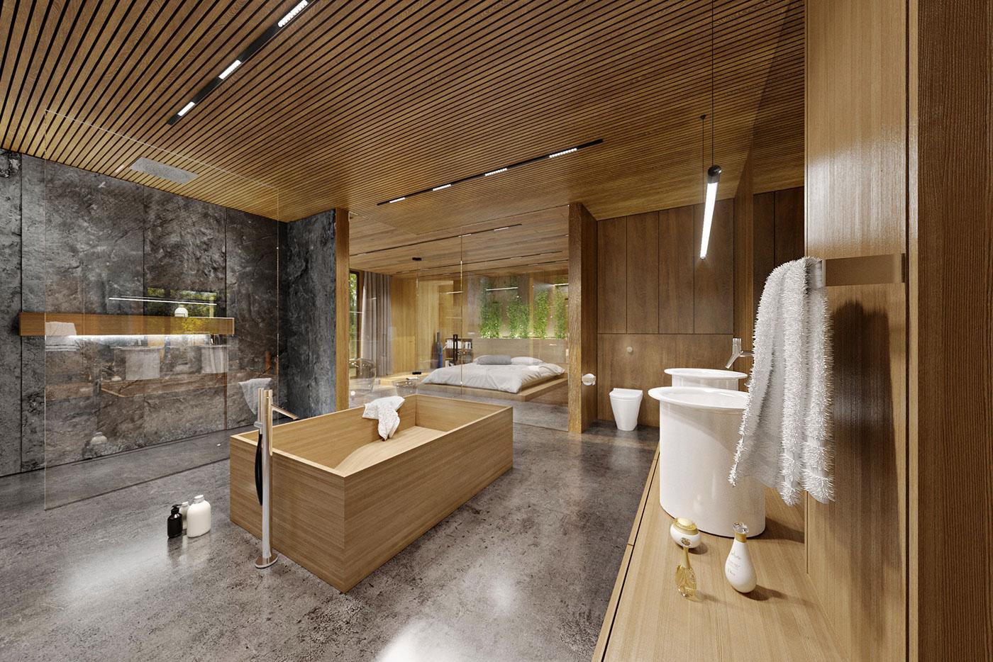indoor spa like bathroom design