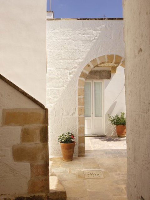 The courtyard's pietra leccese limestone had been buried under a layer of earth