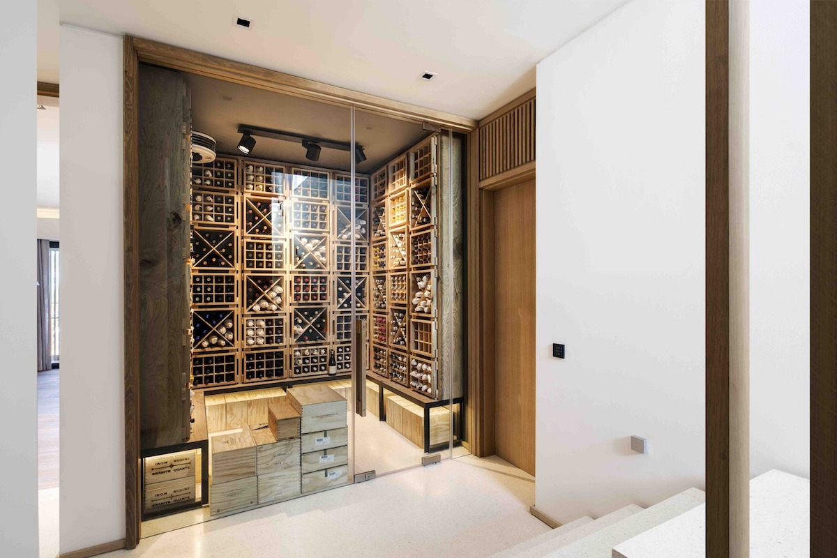 stylish wine cellar design