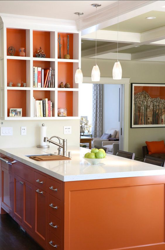 Tips For Kitchen Color Ideas: 27 Cheerful Orange Kitchen Decor Ideas