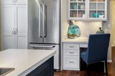14 a small home office incorporated into the kitchen decor