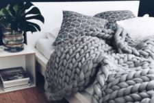 21 chunky knits are a perfect hygge accessory, they can fit any kind of bedroom