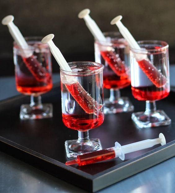 bloody shirley temples are ideal for a blood or vampire-themed party