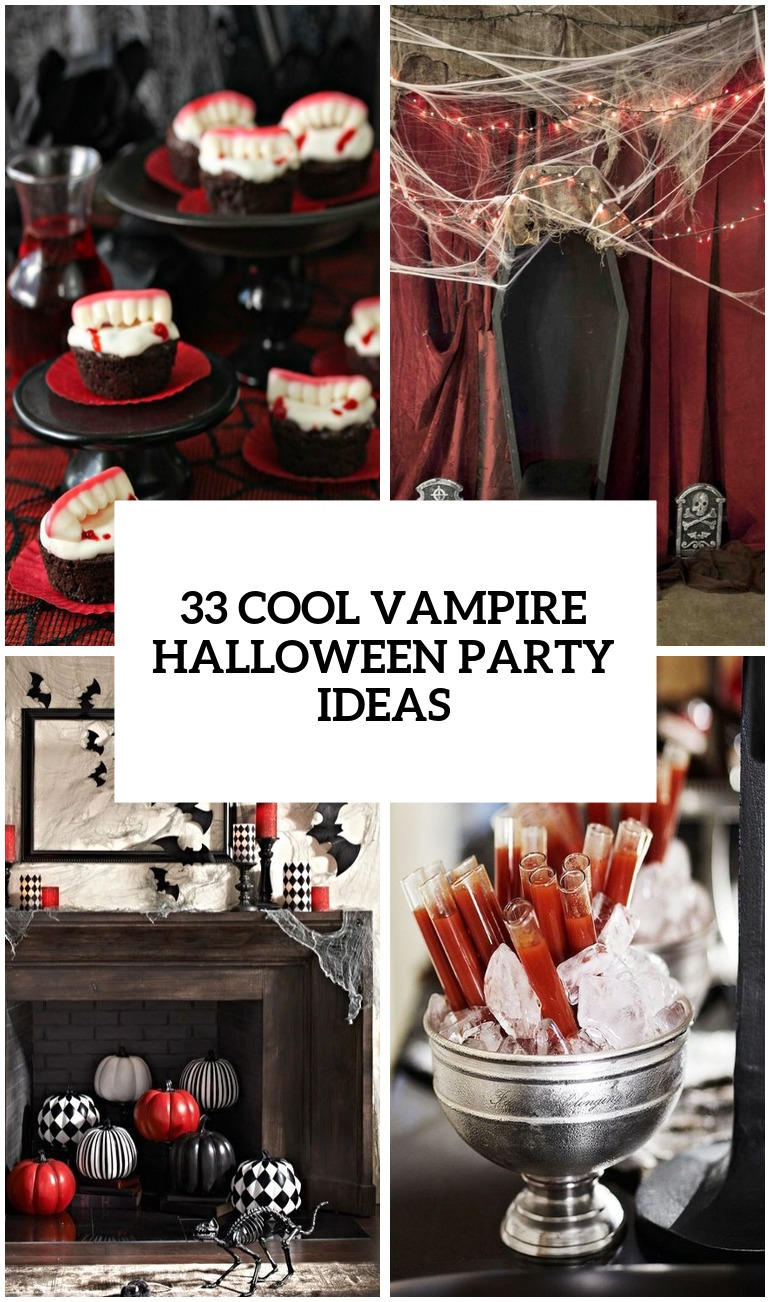 26 Cool Vampire Halloween Party Decor Ideas