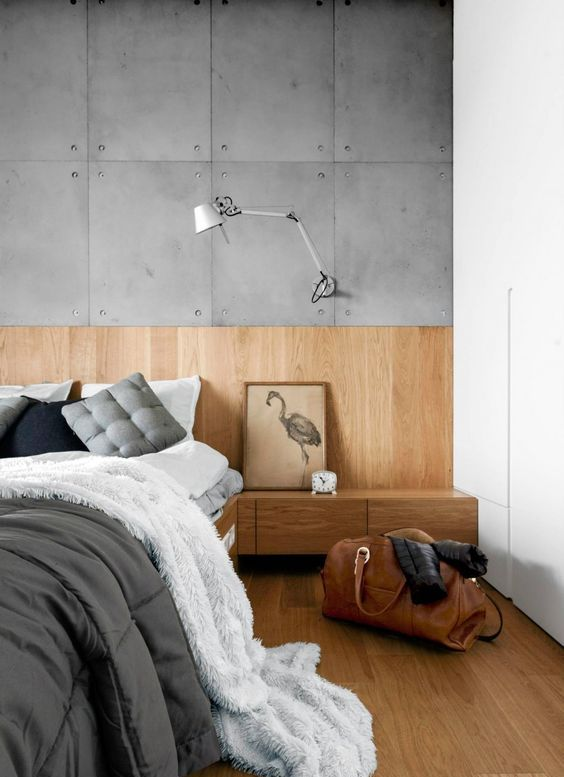 27 ideas to make your bedroom cozier for cold seasons digsdigs - Light wood platform bed ...