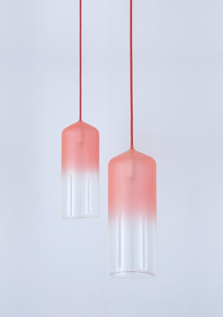 pink glass gradient lamps look chic and will add a cool and soft touch to any space