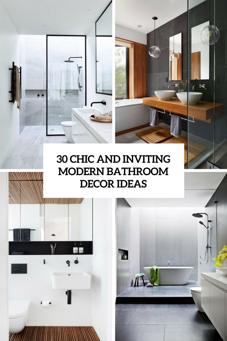Chic And Inviting Modenr Bathroom Decor Ideas Cover