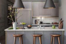cool modern tiny kitchen design