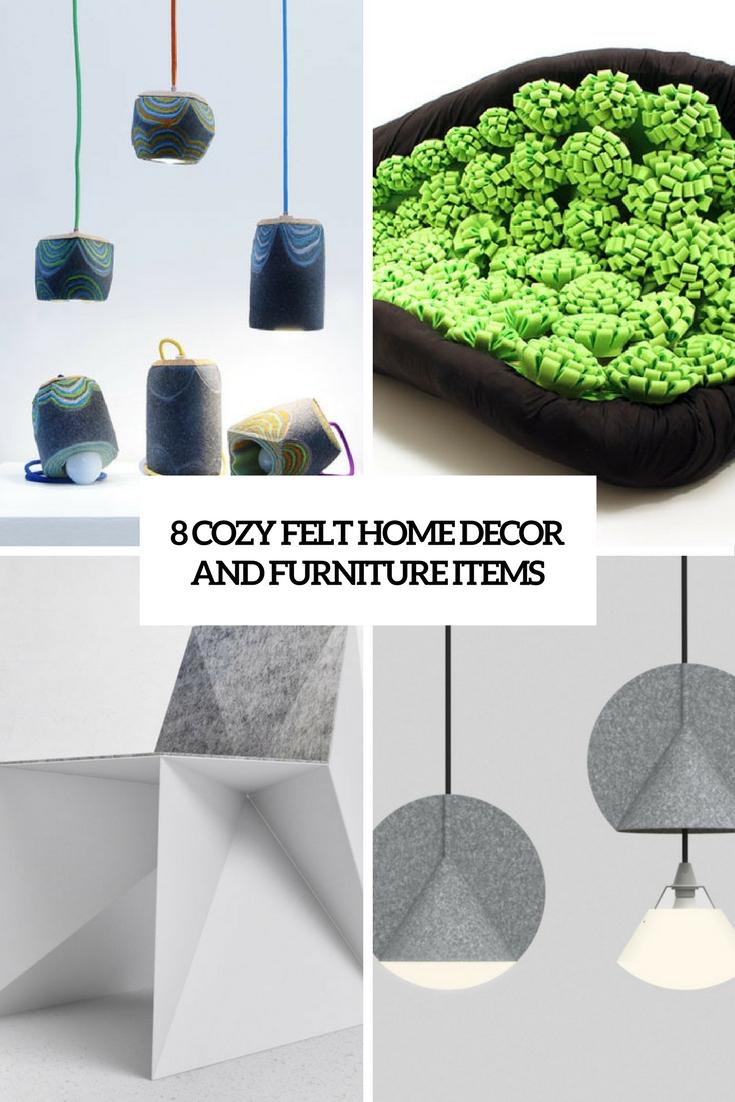 8 Cozy Felt Home Decor And Furniture Items