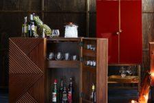 geometric bar cabinet by Rosanna Ceravolo
