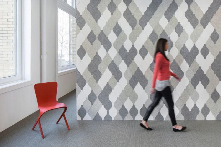 Eva Zeisel felt tile collection (via design-milk.com)
