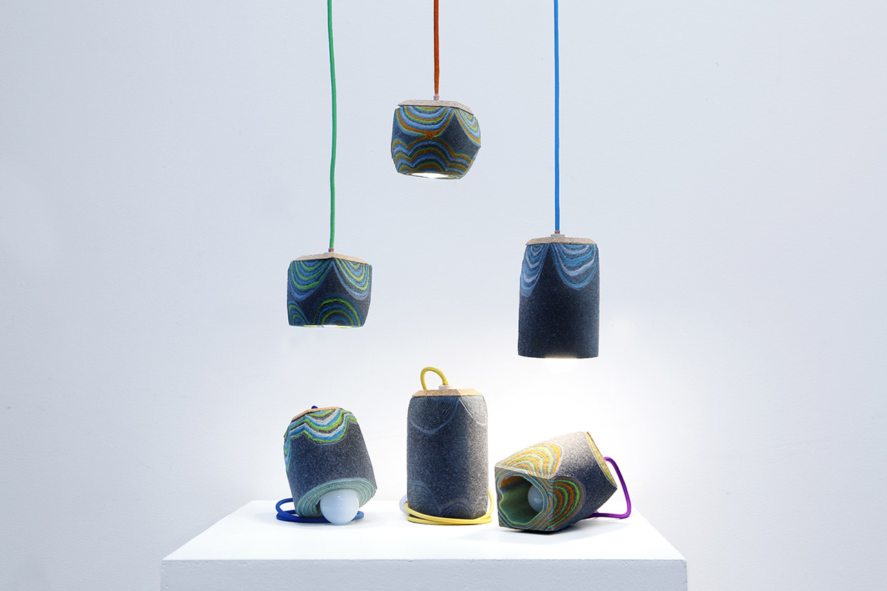 Feltology lamp collection by Lorenzo Polo