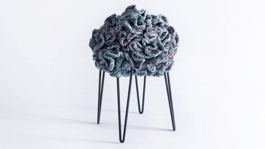 crochet petal stools by Iota
