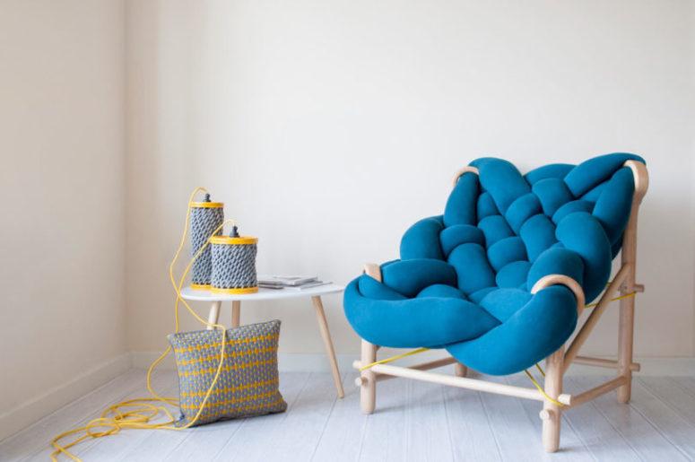 knit furniture by Veega Tankun (via www.digsdigs.com)
