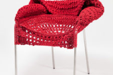 knit and crochet furniture by Rhode Island School of Design