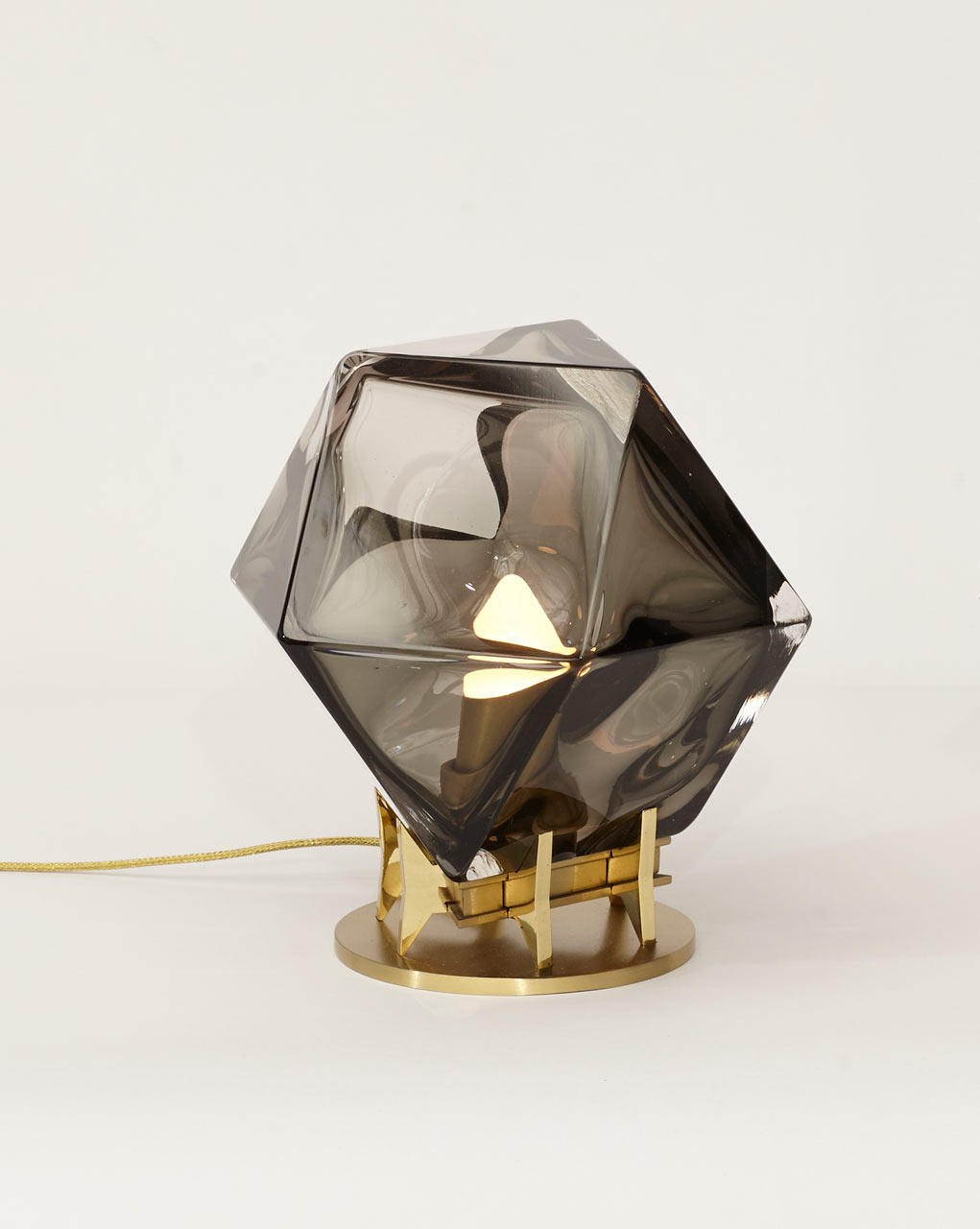 Welles double blown lamp by Gabriel Scott