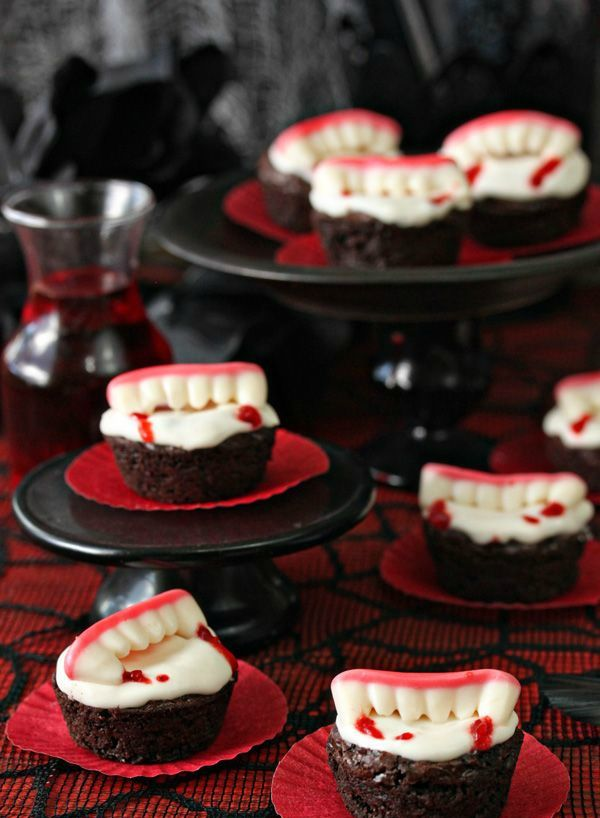 vampire's jaw is a perfect shape for a cupcake