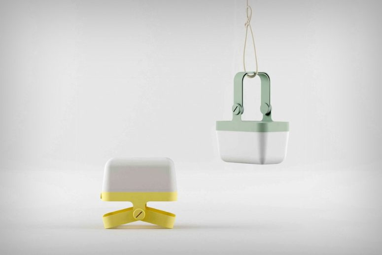 Binaer lamp is a creative item with simple modern design and a touch of color that can be used throughout the house or outdoors