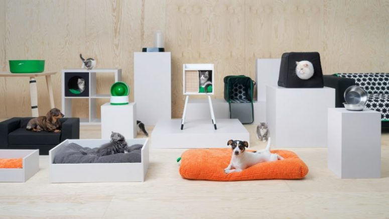 IKEA Lurvig furniture collection is the first pet furniture range for cats and dogs, which takes behavior patterns into consideration