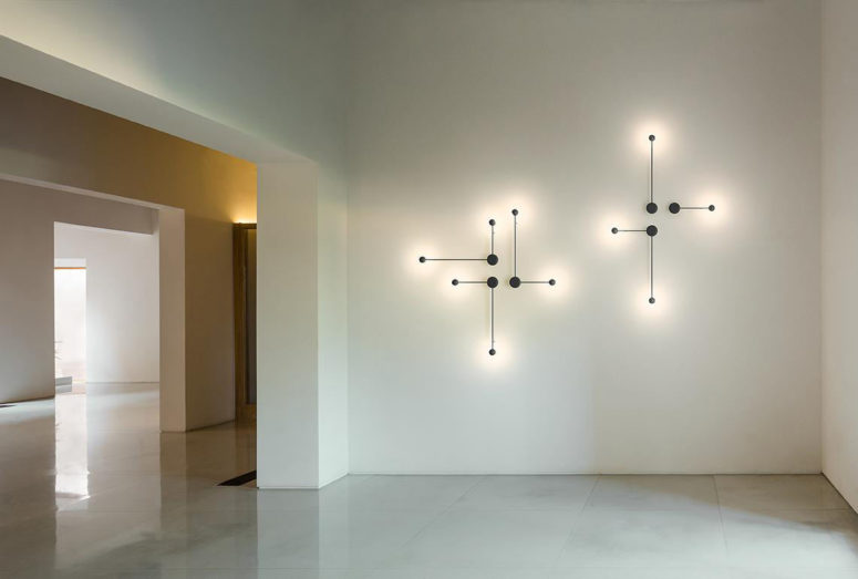 Pin lights are a modern collection of lamps that show off clean lines and geometric forms for modern and minimalist spaces