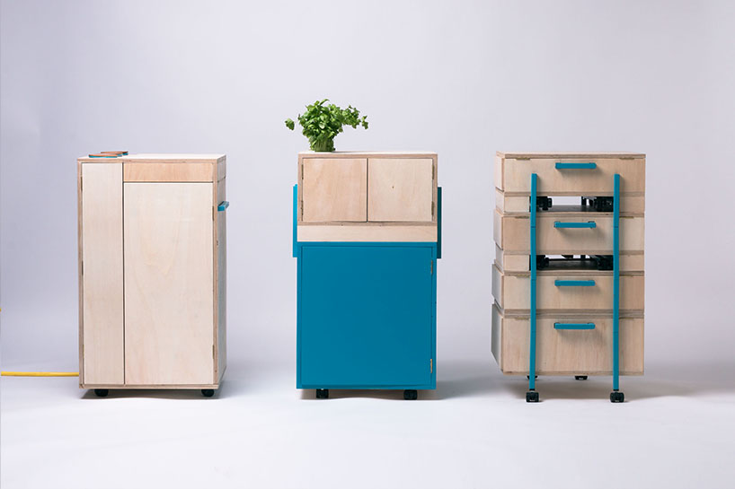 The Liberation of the Kitchen is a project that consists of 3 modules that can be arranged as you like