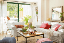 01 This beautiful Spanish home with vintage and farmhouse touches looks very vivacious and welcoming