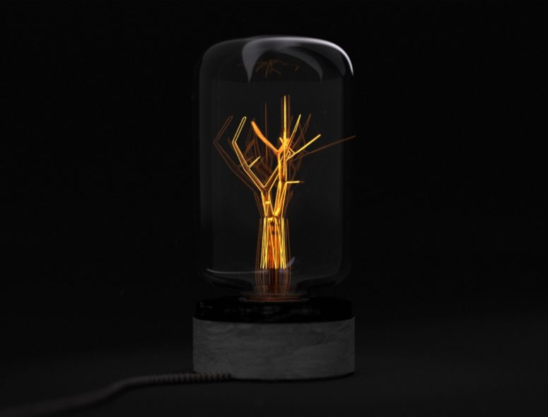 This lamp is called Light of Hope and it reminds of 78 million acres of rainforests that are burnt every year