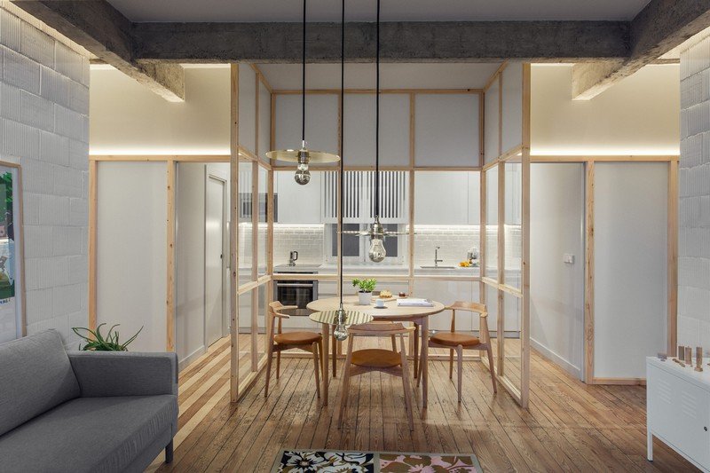 This modern apartment was renovated to bring more light in and to make it more modern and welcoming