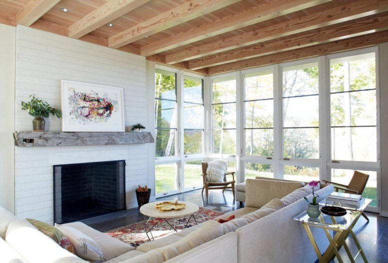 This vacation home in Vermont and it's spacious, airy and very inviting breathing with comfort and coziness