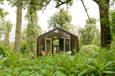 01 Wikkelhouse is a small-scale homeit's made of 24 layers of cardboard, which explains its name 'a cardboard house'