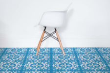 02 Porto flooring will remind you of traditional Portuguese tiles called azulejo and their motifs