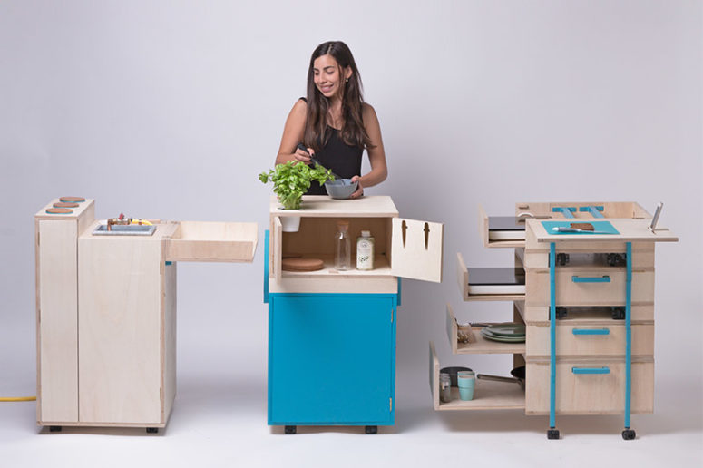 The modules contain all necessary elements for the preparation of meals and they are comfy in using