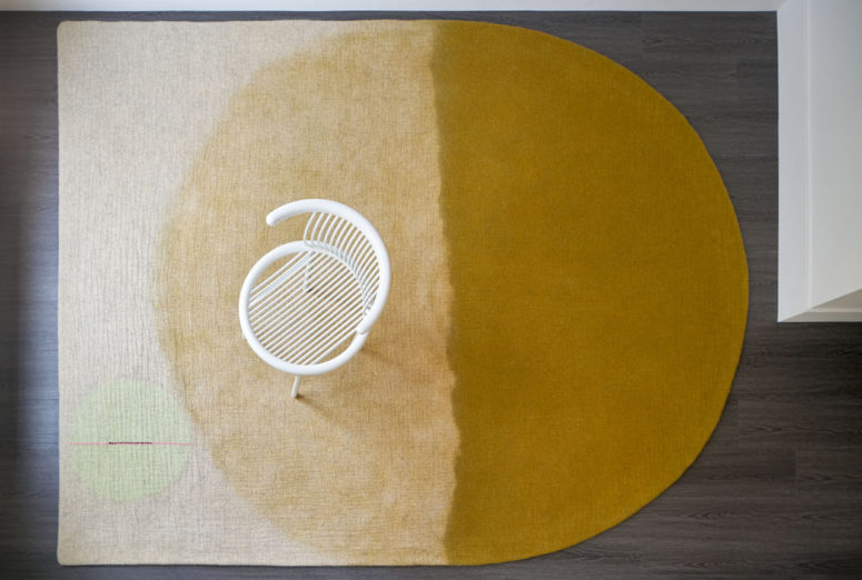 These bold rugs features truly fall colors like mustard and abstract modenr designs that fit modern spaces